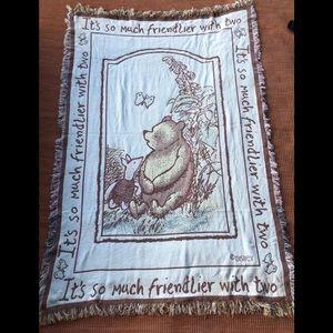Vintage Winnie the Pooh blanket